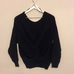 NWT ASOS Twist Back Blue Sweater, Size 4